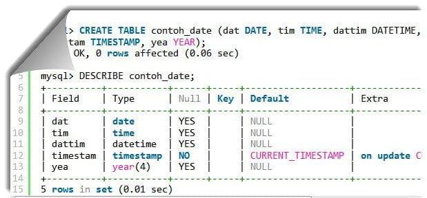 Tipe data secara umum di SQL 5 (1)