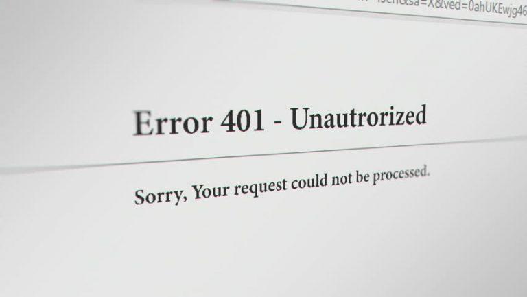 Error 401 dan Bagaimana Cara Memperbaikinya? 5 (1)